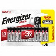 Батарейки алкалиновые Energizer MAX AAA LR03 1.5В 12шт