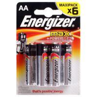 Щелочные батарейки Energizer Max AA 6шт