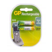 Аккумулятор Ni-MH GP Rechargeable AAA 650мАч 1,2В 2шт