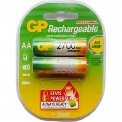 Аккумуляторы металлогидридные Ni-MH GP Rechargeable AA 2700мАч 1,2В 2шт