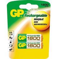 Аккумуляторы металлогидридные Ni-MH GP Rechargeable AA 1600мАч 1,2В 2шт