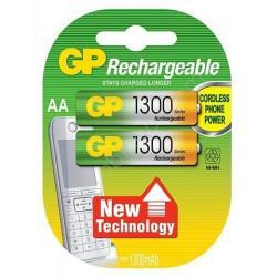 Аккумуляторы металлогидридные Ni-MH GP Rechargeable AA HR6 1300 мАч 1,2В 2шт