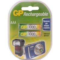 Аккумуляторы металлогидридные Ni-MH GP 100AAAHC-5DECRC2 Rechargeable AAA HR6 1000мАч 1.2В 2шт