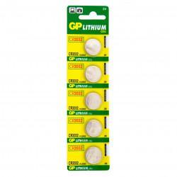 Батарейки литиевые GP CR2032-C5 CR2032 3В дисковые 5шт