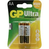 Батарейки алкалиновые GP Ultra Alkaline AA LR6 1,5В 2шт