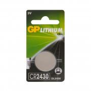 Батарейка литиевая GP Lithium CR2430 дисковая 3В 1шт