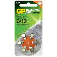 Батарейки GP ZA13F-D6 Hearing Aid ZA13 1,45В для слуховых аппаратов 6шт
