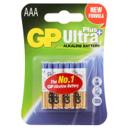 Батарейки алкалиновые GP Ultra Plus AAA LR03 1,5В 4шт
