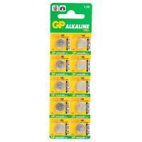 Батарейка алкалиновая GP 186-C10 Alkaline cell 186 AG12 LR43 1,5В дисковая 10шт