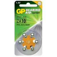 Батарейки GP ZA10F-D6 Hearing Aid ZA10 1,45В для слуховых аппаратов 6шт