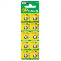 Батарейка GP Alkaline cell A76 1,5В дисковая 10шт