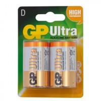 Батарейки алкалиновые GP Ultra Alkaline D LR20 1,5В 2шт