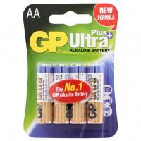 Батарейки алкалиновые GP Ultra Plus AA LR6 1,5В 4шт