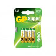 Батарейки алкалиновые GP GP24A-2CR4 Super AAA LR03 1,5В 4шт