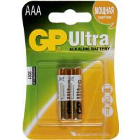 Батарейки алкалиновые GP Ultra Alkaline AAA LR03 1,5В 2шт
