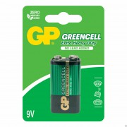 Батарейки солевые GP Greencell Крона 6F22 9В 10шт