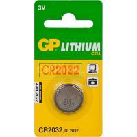 Батарейка литиевая GP CR2032 3В дисковая 1шт