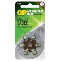 Батарейки GP Hearing Aid ZA312 1,45В для слуховых аппаратов 6шт