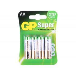 Батарейки алкалиновые GP GP15A-CR4 Super AA LR6 1,5В 4шт