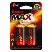 Батарейки алкалиновые Kodak Max C LR14 1,5В 2шт