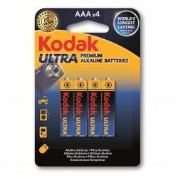 Батарейки алкалиновые Kodak Ultra AAA LR03 1,5В 4шт