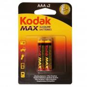 Батарейки алкалиновые Kodak Max AAA LR03 1,5В 2шт.