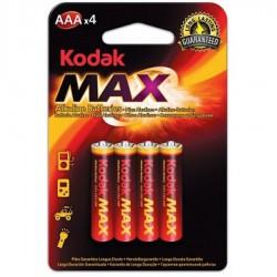Батарейки алкалиновые Kodak Max AAA LR03 1,5В 4шт