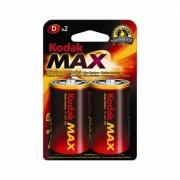 Батарейки алкалиновые Kodak Max D LR20 1,5В 2шт