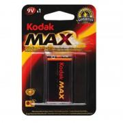 Батарейка алкалиновая Kodak Max Крона 6LR61 9В 1шт