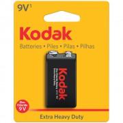 Батарейка солевая Kodak Extra Heavy Duty 6F22 9В 1шт