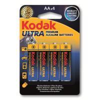 Батарейки алкалиновые Kodak Ultra AA LR6 1,5В 4шт