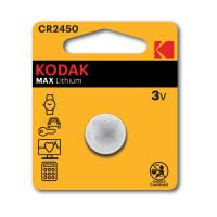 Батарейка литиевая Kodak MAX Lithium CR2450 3В 1шт