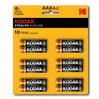 Батарейки алкалиновые Kodak XTRALIFE ALKALINE AAA LR03 1.5В 12шт (6 отрывных блистеров по 2 шт)