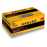 Батарейки алкалиновые Kodak XTRALIFE ALKALINE AAA LR03 1.5В 60шт