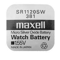 Батарейка для часов Maxell SR1120SW 381 1,55В дисковая 1шт