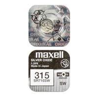 Батарейка для часов Maxell SR716SW 315 1,55В дисковая 1шт