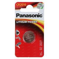 Батарейка литиевая Panasonic Lithium Power CR2016 3В дисковая 1шт