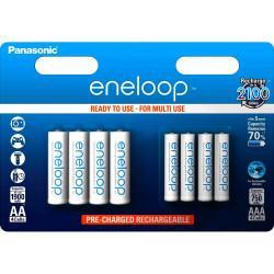 Аккумуляторы Panasonic Eneloop BK-KJMCCE44E в комплекте 4шт 750мАч AAA и 4шт 1900мАч AA
