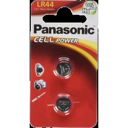 Батарейки алкалиновые Panasonic AG13 LR44 357 1,5В дисковая 2шт
