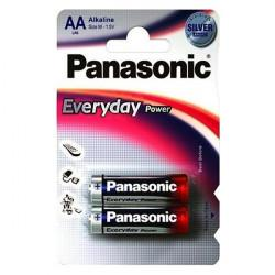 Батарейки алкалиновые Panasonic Everyday Power AA LR6 1,5В 2шт