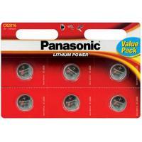 Батарейка литиевая Panasonic Lithium Power CR2016 3В дисковая 6шт