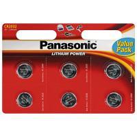 Батарейка литиевая Panasonic Lithium Power CR2025 3В дисковая 6шт