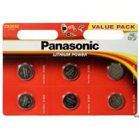 Батарейка литиевая Panasonic Lithium Power CR2032 3В дисковая 6шт