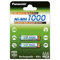 Аккумуляторы Ni-MH Panasonic High Capacity AAA 1000мАч 1,2В 2шт