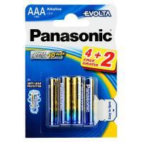 Батарейки алкалиновые Panasonic Evolta LR03EGE/6BP 4+2F AAA LR03 1,5В 6шт