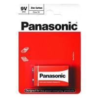 Батарейка солевая Panasonic Zinc Carbon 6F22 Крона 9В 1шт