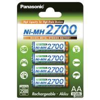Аккумуляторы Ni-MH Panasonic High Capacity AA 2700мАч 1,2В 4шт