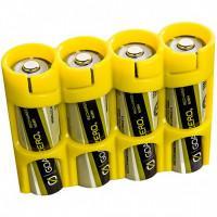Чехол пластиковый для 4-х аккумуляторов AA Powerpax желтый США