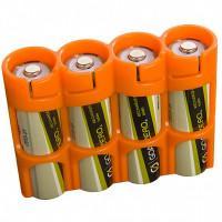 Чехол пластиковый для 4-х аккумуляторов AA Powerpax оранжевый США