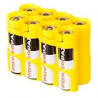 Чехол пластиковый для 8-и аккумуляторов AA Powerpax желтый США